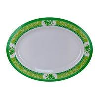 Plato oval 12 Bambú Verde