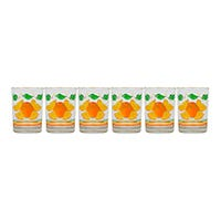Juego de 6 vasos cafetero suave 250 ml Naranjas