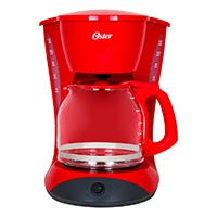 Cafetera 12 tazas básica roja Oster