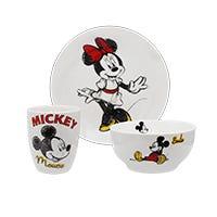 Vajilla Mickey y Minnie Siglo XXI 12 piezas